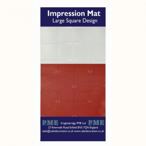 PME Impression Mat Large Square Design - Sturkturmatte gr. Quadrate