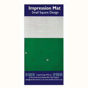 PME Impression Mat small Square Design - Strukturmatte kleine Quadrate