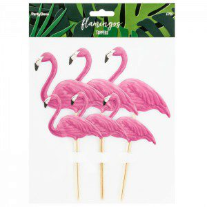 PartyDeco Topper Flamingo Set 6-teilig