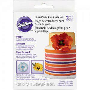 Wilton Cut Outs -Poppy- Set/3 - Mohnblumenausstecher-Set