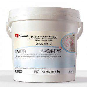 MTT - Massa Ticino Tropic Rollfondant - Weiß 7kg -Eimer-