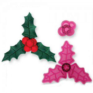 JEM Holly & Berries Cutter Set/2