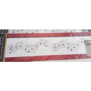Designer Stencils Border / Schablone - Noten