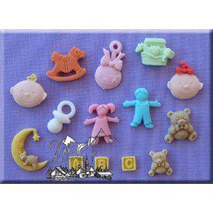 AM Nursery, ein Mold mit 14 vrschiedenen kleinen Teilen
