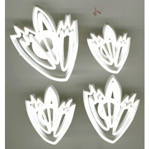 Lace Leaf cutters, 4-teilig