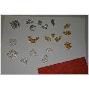 Fimo Mould mit verschiedenen Ornamenten