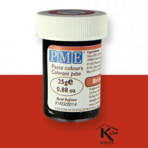 PME Paste Color - Brick red / Ziegelrot