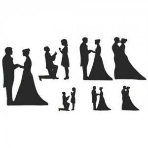 PWK Wedding Silhouette Set