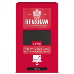 Renshaw Rollfondant Extra 1 kg - Schwarz