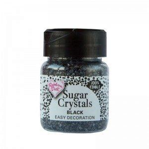 RD Edible Sparkling Sugar Crystals - Black
