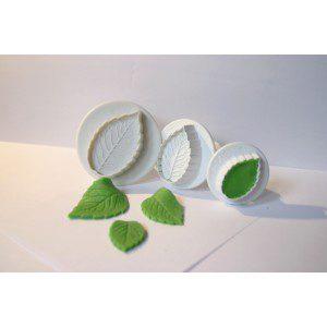 PME Rose Leaf / Rosenblätter, 3-teilig, Plunger