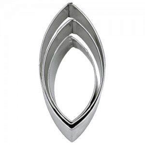 Ausstecher - oval/Ellipse 3-teilig