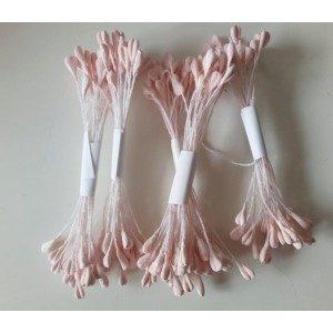 Staubgefäße / Stamens, rosa länglich abgerundete Köpfe