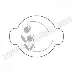 Martellato Stencil rund - Decor Tulpe