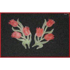 Tulip embroidery, 2-teilig