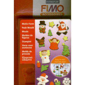 Fimo Mould mit verschiedenen Weihnachts - Motiven