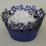 PME Stars Cupcake Wrappers Midnight Blue