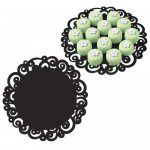 Wilton Swirl Doilies Black -Round 30 cm-