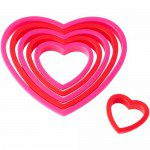 Wilton Cookie Cutter Nesting Heart Set/6