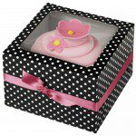CupCake Box - Black & White Dots (Punkte), 3er Set