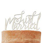 Ginger Ray Wooden Cake Topper Just Married - Boho