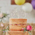 Ginger Ray Wooden Cake Topper Happy Birthday - Boho