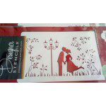 Designer Stencils Border / Schablone - Kissing couple