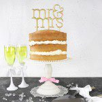 PME Cake Topper Cutter Mr & Mrs - Modern
