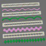 FMM Straight Frill Cutters Set 5 - Bordüren