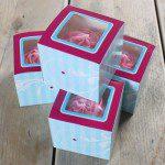 CupCake Box in leichtem Blau, 4er Set - Elegant