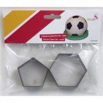 Dekofee Soccer Cutter Small Set /2, Fußballecken-Ausstecher