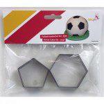 Dekofee Soccer Cutter Small Set /2, Fußballecken-Ausstecher
