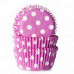 HoM mini Backförmchen - in pink mit weißen Tupfen