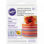 Wilton Cut Outs -Poppy- Set/3 - Mohnblumenausstecher-Set