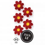 PME Red Daisies Pkg/12